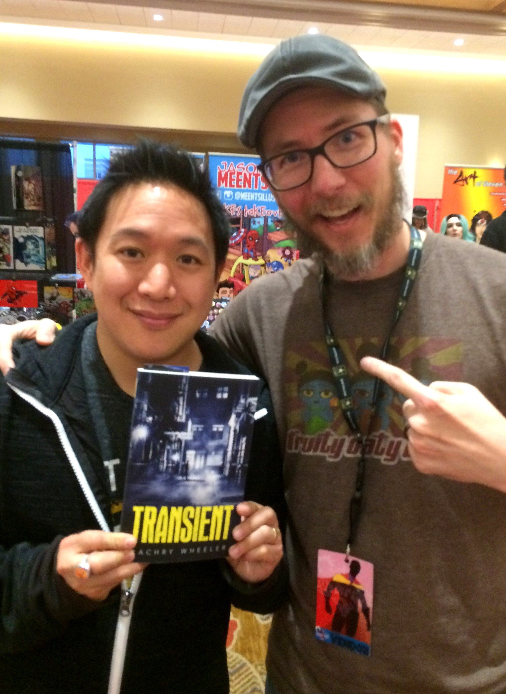 Ming Chen of AMC's Comic Book Men with his copy of Transient